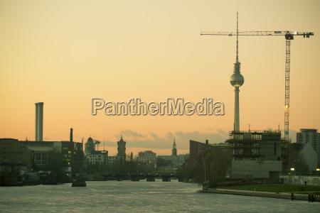 germany berlin view from oberbaum bridge