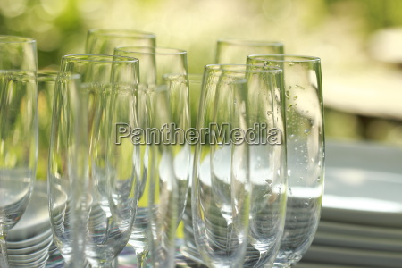 germany berlin champagne glasses and plates