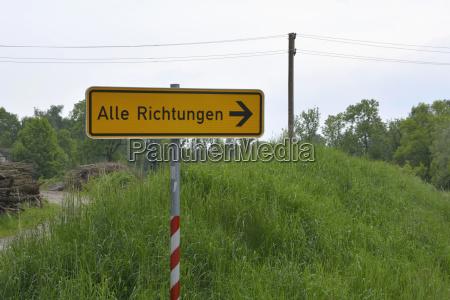 germany sign post at rural scene