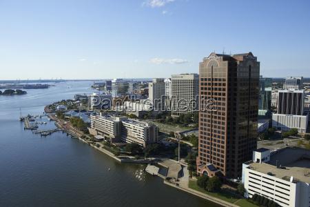 usa virginia aerial photograph of downtown