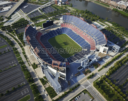 usa nashville football stadium aerial view