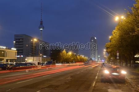 germany berlin traffic on karl marx