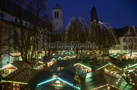 germany baden wuerttemberg freiburg lightened christmas