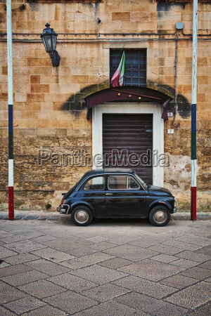 italy apulia old fiat 500 parked