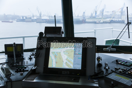 germany hamburg interior of containership at