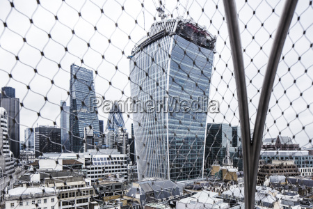 uk london view to the skyscrapers