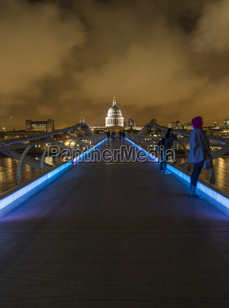 uk london view from millennium bridge