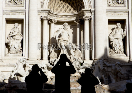 italy rome view to trevi fountain