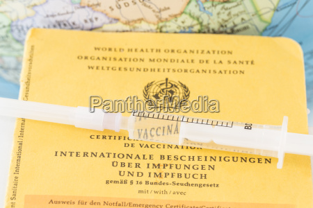 germany freiburg syringe on vaccination certificate