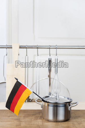 a cooking pot with a german