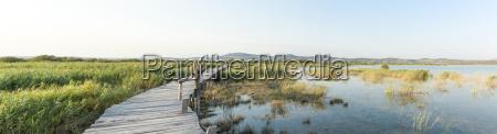 croatia dalmatia wooden footbridge at vransko