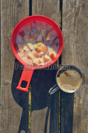 simple, breakfast, with, coffee, and, muesli - 21062577
