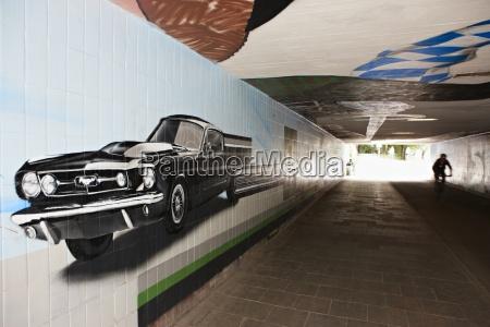 germany bavaria munich graffiti at subway