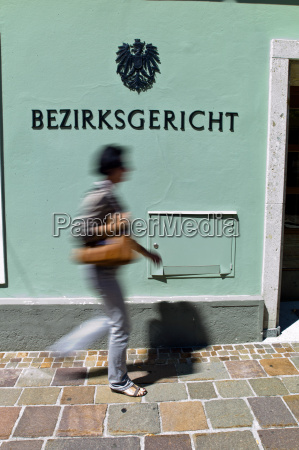 austria slazburg woman walking near district