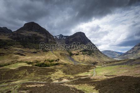 united kingdom scotland view of glen