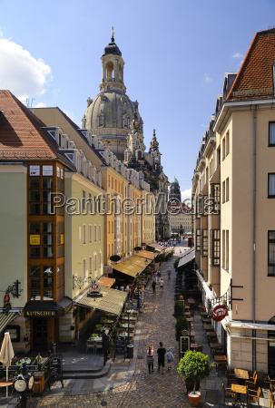 germany saxony dresden alley muenzgasse and