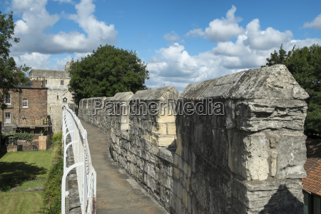 great britain england york city wall