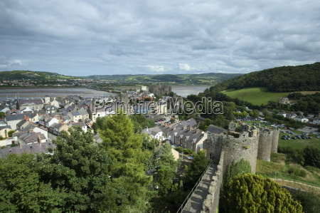 uk wales conwy view from historical