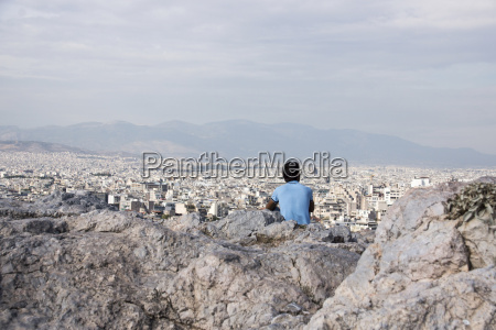 greece athens man looking on the