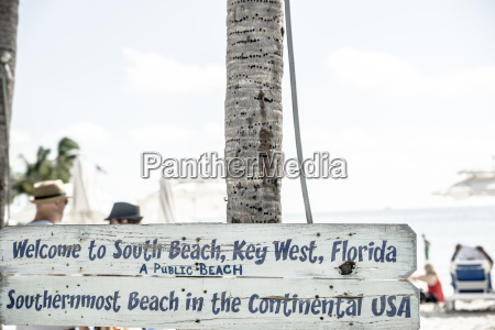 usa florida key west sign at