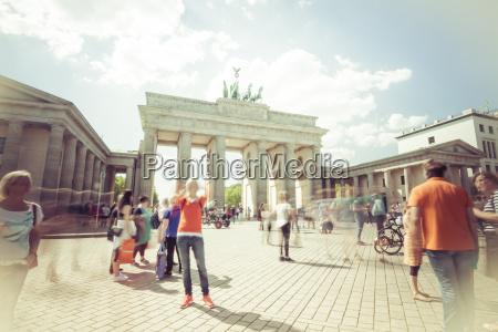 germany berlin tourists at pariser platz