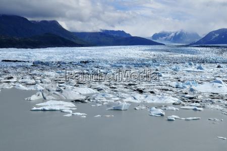 usa alaska view of knik glacier