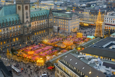 germany hamburg christmas market at city