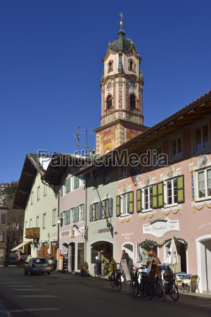 germany bavaria mittenwald view of historic