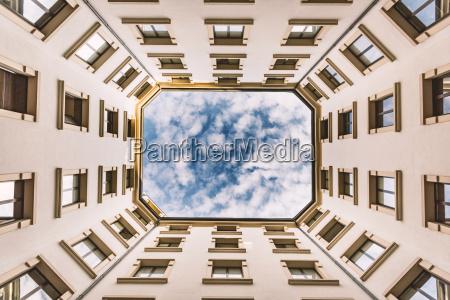 italy milan facades of a backyard