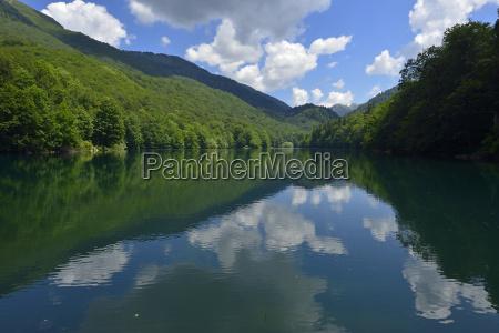 montenegro view of lake biograd at