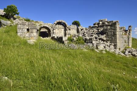 turkey ruins of antique theater