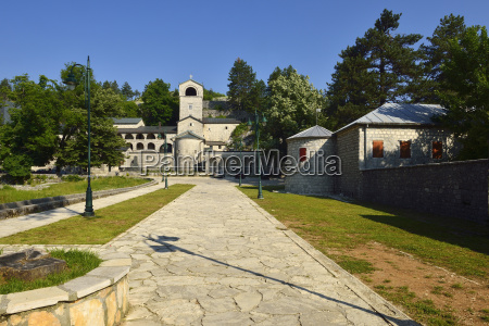 montenegro view of orthodox monastery