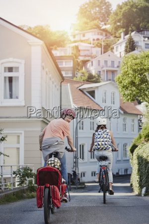 germany hamburg blankenese family riding e