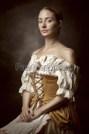 portrait of a woman in vintage