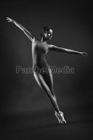 female dancer black and white