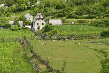 albania theth traditional farm intheth national