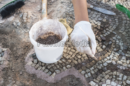 bulgaria plovdiv archaeologist recovering artifacts of