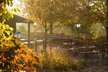 germany bavaria tutzing beer garden forsthaus