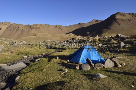 iran mazandaran tent camp on hezar