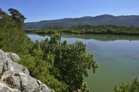 turkey isparta province pisidia view over