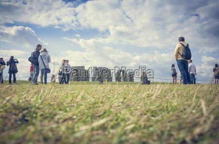 united kingdom england wiltshire stonehenge tourists