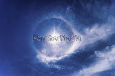 22 degree halo optical phenomenon
