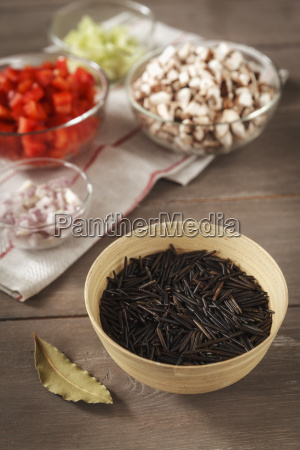 ingredients for wild rice chowder