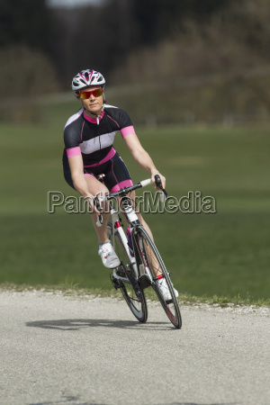 germany bavaria mid adult woman riding