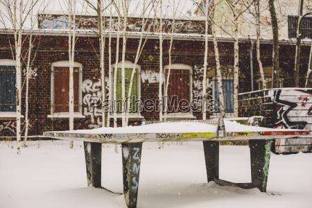 germany saxony leipzig plagwitz snow covered
