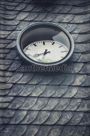 germany wuppertal broken clock on roof
