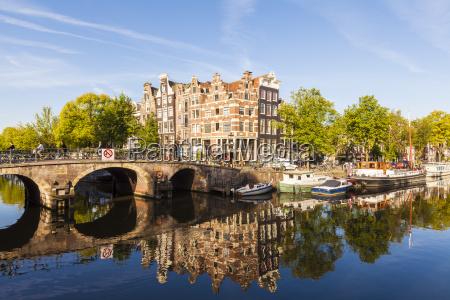 netherlands amsterdam brouwersgracht and prinsengracht