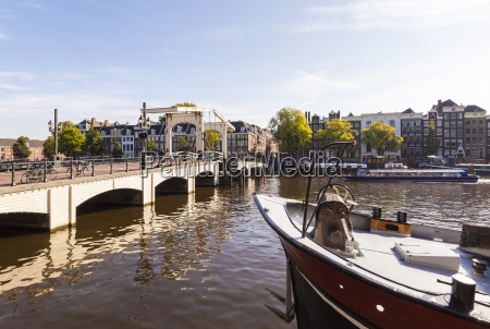 netherlands amsterdam view to magere brug