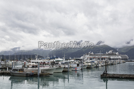 usa alaska seward view of harbour