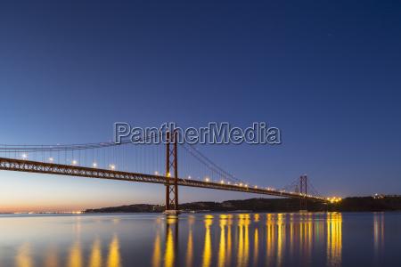 portugal lisbon view of 25 de